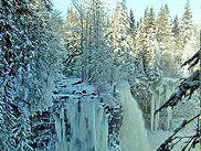 Canim Falls im Winter